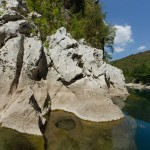 Rocks in Neretva river