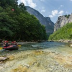 rafting on beautiful Neretva