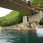 High jump on Neretva river.