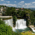 Jajce's waterfall