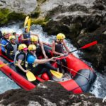 Rafting in rapids of the Neretva river